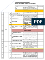 Cronograma de Temas 2014
