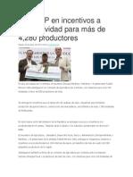 03-06-2014 Agro en Red - 204 MDP en incentivos a productividad para más de 4,280 productores.