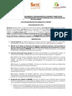 Acta de Designacion de Candidato Al Proeeb