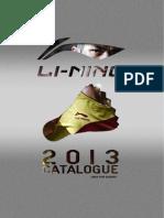 LI-NING Europa Badminton Catalogue & PriceList 2013