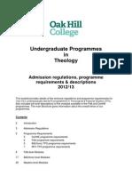Undergraduate ProgrammesOakHillCollege