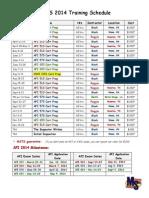 2014 MSTS Class Schedule