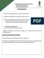 Disposiciones Generales Examen de Conocimientos
