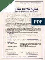 Thong Bao Tuyen Dung Fresh Staff Nam 2014