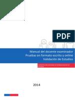 20140421 Manual Del Docente Examinador VE 2014 (Online)