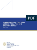 NYC Comptroller Comments on fiscal 2015 Executive Budget