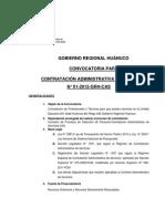 CAS 2012 Convocatoria Gbno. Reg.