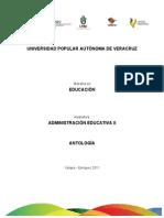 Antología - Administración Educativa II
