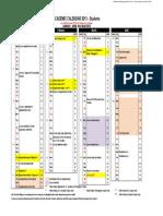 Calendar Academic 2013