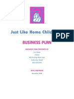 Family child care business plan