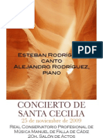 programa concierto Sª Cecilia