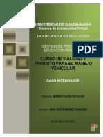 CURSO DE VIALIDAD Y TRANSITO PARA EL MENEJO VEHICULAR
