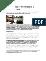 Deck de Madera - Paredes - Paso a Paso