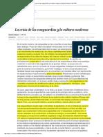 La Crisis de Las Vanguardias y La Cultura Moderna _ Edición Impresa _ EL PAÍS