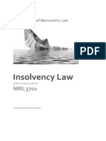 Insolvency Law Study Guide 2014 - UNISA
