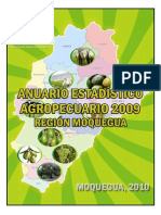 Anuario Estadistico Agropecuario 2009 Region Agraria Moquegua