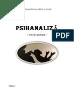 referat psihanaliza