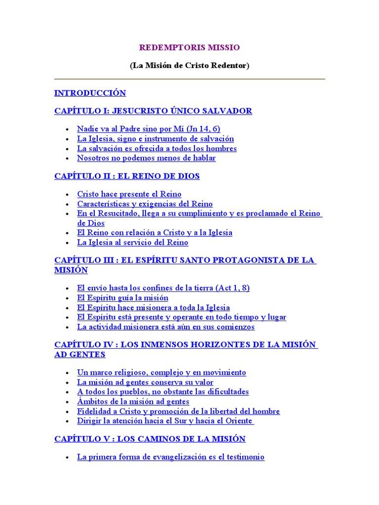 redemptoris missio pdf español