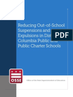 OSSE report and recommendations on reducing out-of-school suspensions and expulsions in the District of Columbia Public and Public Charter Schools