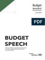 2014 Liberal budget speech