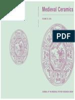 Medieval Ceramics Volume 25 (2001)