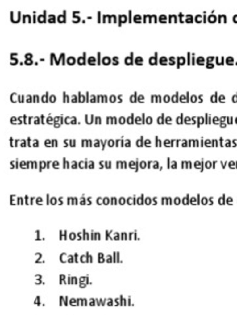 Gesti U00f3n Estrat U00e9gica  5 8 Modelos De Despliegue