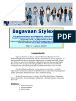 Company Profile-- Bagavaan Stylexim-- Garment Buying Office Cum Exporter From Tirupur