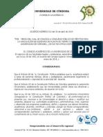 Acuerdo Por El Cual Se Convoca a Concurso Docente 2014