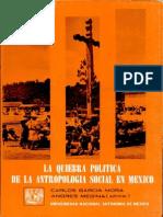 Medina, A., Et.al., La Quiebra Política de La Antropología Social en México