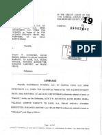 Bill Scherer Files Suit Against Rothstein Et Al