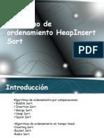 Algoritmo de Ordenamiento HeapInsert Sort (Diapositivas)
