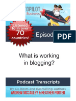 What is working in blogging