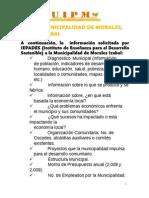 Diagnostico Municipal de Morales, Izabal