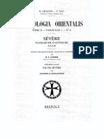 Patrologia Orientalis Tome II - Fascicule 1 No. 6 - Severe patriarche d'Antioche