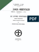 Patrologia Orientalis Tome Ix - Fascicule 1 - No. 41 - Graffin - Nau - Le livre d'Esther Version ethiopienne