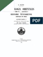 Patrologia Orientalis Tome VII - Fascicule 2 - Mgr. Addai Scher - Histoire Nestorienne Seconde Partie (I)