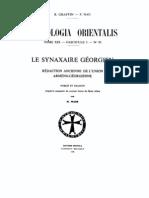 Patrologia Orientalis Tome XIX - Fascicule 5 - No. 95 - Le Synaxaire Georgien