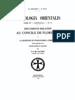 Patrologia Orientalis Tome XV - Fascicule 1 No. 72 - Documents relatifs au Concile de Florence I