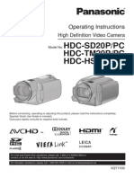 Filmadora - Panasonic HDCSD20