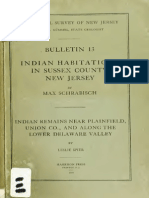 Indian Habitations in Sussex County, NJ (1915)