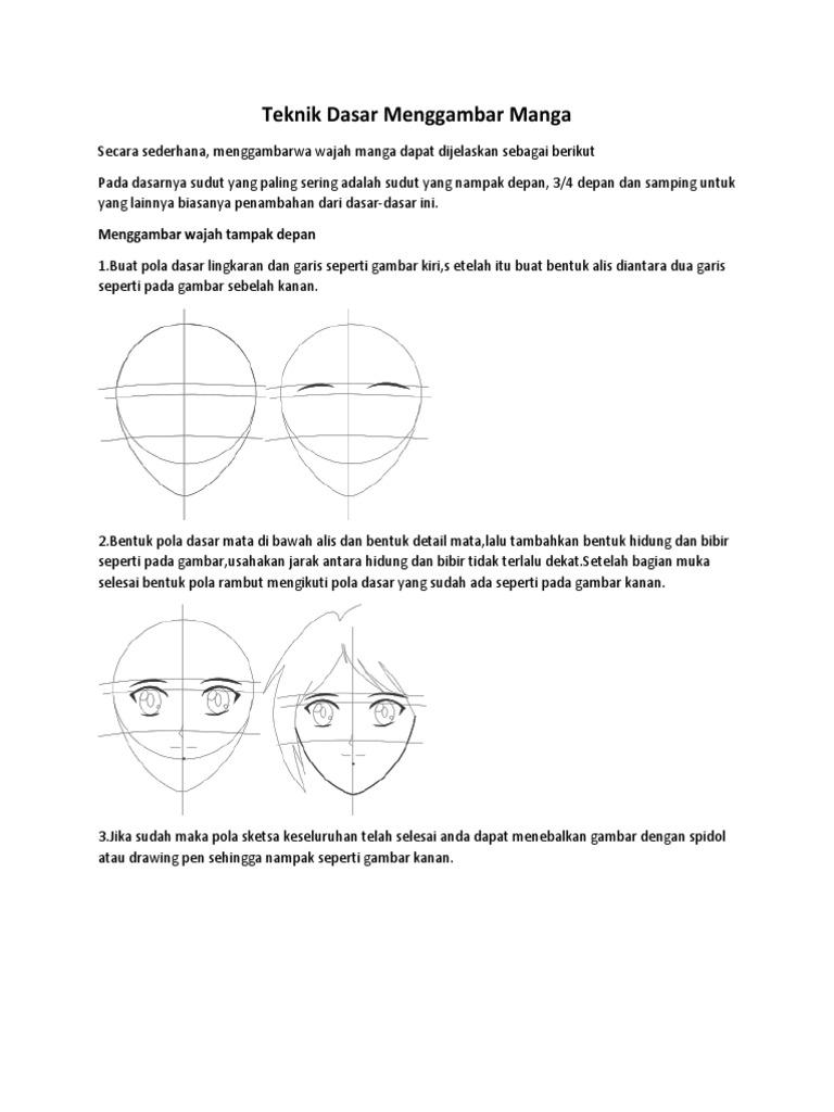 Teknik dasar membuat manga