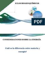 Energía y Ciclos Biogeoquímicos