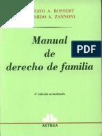 Manual de Derecho de Familia - Gustavo Bossert y Eduardo Zannoni