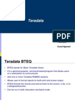 Teradata Bteq,Mload,Fload,Fexport,Tpump and Sampling