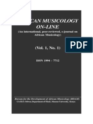 African Musicology Online Vol 1 No 1 | Dances | Musical