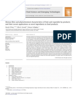 Dietary Fibre and Phytochemical Characteristics of Fruit and