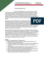 CWPP Overview Sheet