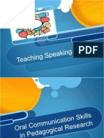 teaching speaking