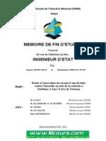 Etude Et Renovation Du Circuit d Eau de Lutte Contre l Incendie Au Sein de La Centrale a Turbines a Gaz TAG de Tetouan