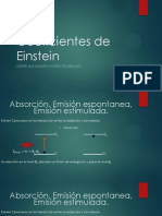Coeficientes de Einstein